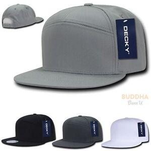 DECKY 7 Panel Cotton Snapbacks Snapback Flat Bill Baseball Hats Cap ... 629b0f6ab756