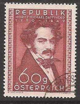 AUSTRIA SG1208 1950 160th BIRTH ANNIV OF MORITZ MICHAEL DAFFINGER FINE USED