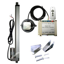 "14"" 12V DC Linear Actuator 1KW Single Axis Solar Panel Tracker System &IR Remote"