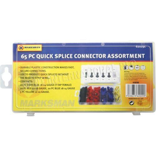65pc Scotch Bloqueo Alambre Conectores Terminales Engarzado Eléctrico Cable de unión rápida