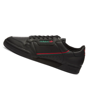 ADIDAS-MENS-Shoes-Continental-80-Black-Scarlet-amp-Green-EE5343