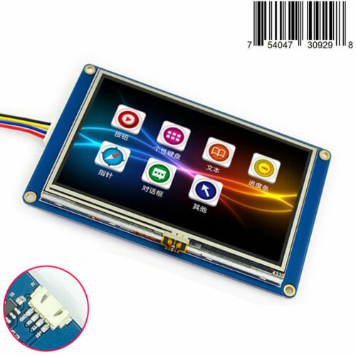 """4.3/"""" Nextion HMI Intelligent USART Serial TFT LCD Module Display w// Touch Panel"""