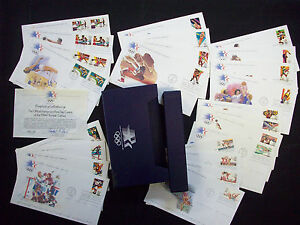 US FDC 1984 Olympic Games 24 First Day Cvrs Set in Box w cards Franklin Mint |