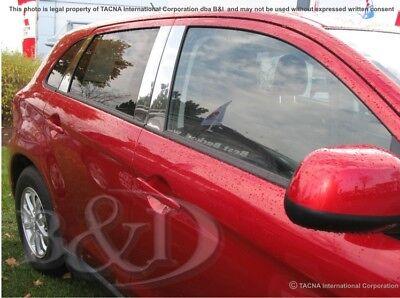 Fits Mitsubishi Outlander 03-06 Exterior Chrome Door Pillars B-Pillar Parts Mirr