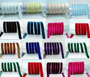 5-yards-3-8-034-10mm-velvet-ribbon-Multicolor