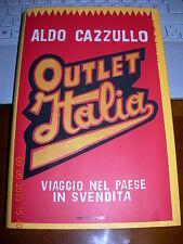 ALDO CAZZULLO OUTLET ITALIA con dedica Autografa dell'autore