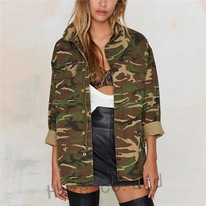 Women-Military-Camo-Padded-Bomber-Jacket-Coat-Outwear