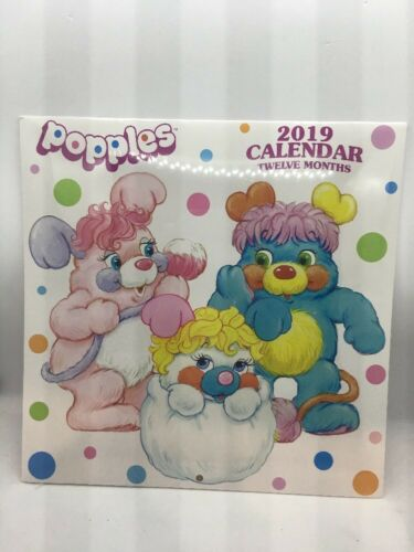 "2019 Popples 12 Month Calendar-10""x20"" When Open-New In Plastic"