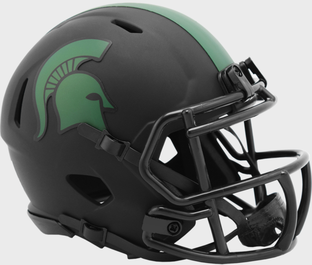 Michigan State Spartans Full Size Football Helmet Decals Decal Set Green NEW