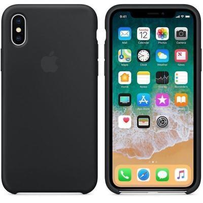 Funda para Apple iPhone X XR XS Max Original carcasas de Silicona Duro Genuina