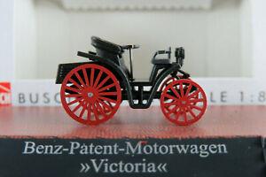 Busch-59916-Benz-Patent-Motorwagen-034-Victoria-034-1893-in-schwarz-1-87-H0-NEU-OVP