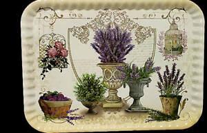 New-Melamine-Large-Serving-Tray-Purple-Flowers