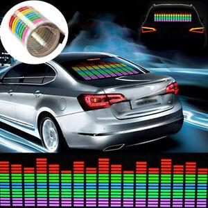45x11cm auto aufkleber musik rhythm led blitz licht lampen for Led lampen auto