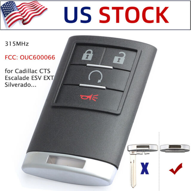 Remote Key Fob For Cadillac Escalade ESV EXT 2007-2014