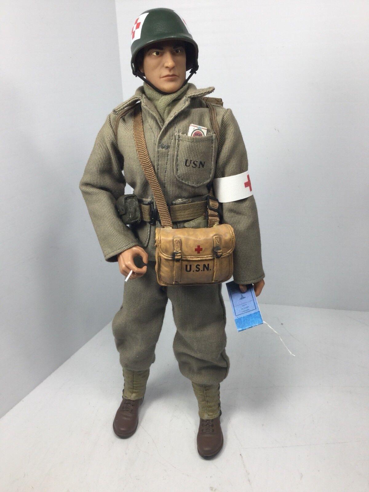 1 6 21ST Century Us Navy enfermero Medic USMC Jugara de aterrizaje DRAGON DID Segunda Guerra Mundial Bbi