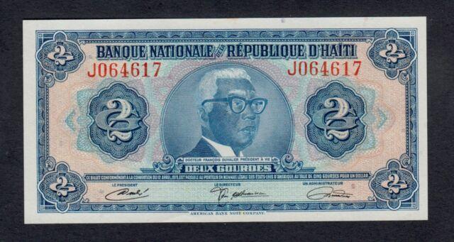 HAITI   2  GOURDES  L. 1919  J  PICK # 201  UNC LESS.