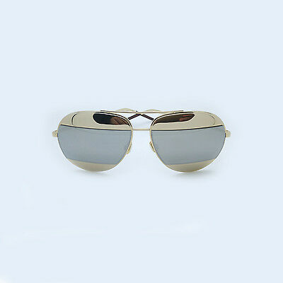 2409d0df43 New Authentic Christian Dior Split 1 Gold Silver Mirror Sunglasses 000DC