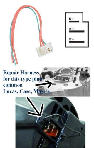 Alternator Harness Repair 3 wire lead for Lucas Massey MF240 243 250 270 290 698