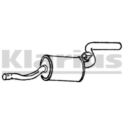 1x KLARIUS OE Quality Replacement Rear End Silencer Exhaust For FIAT Petrol