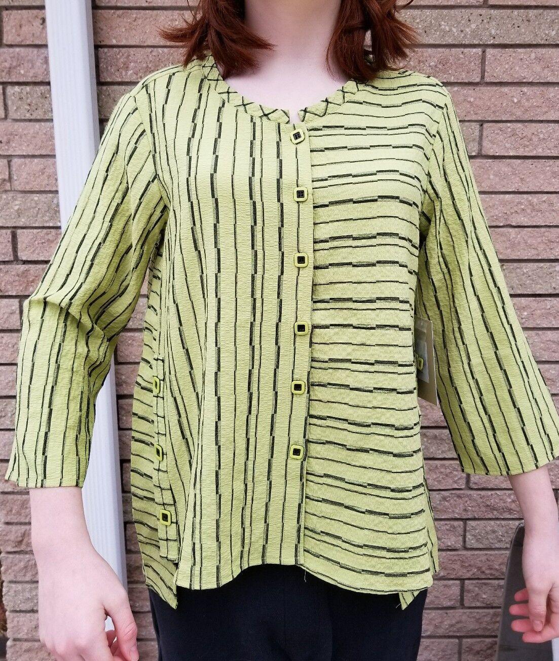 New Medium HABITAT nile Grün  Jacket blouse CUTE    Button down high-low