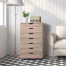 Us Rolling 7 Drawer Filing Cabinet Storage Drawers Wood Study Office School File