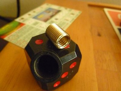 BRASS THREAD REDUCER//ADAPTER//INSERT 12X1.25 OD 8X1.25 AUTO TO MANUAL SHIFTER
