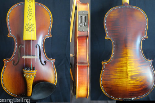 Left hand violin SONG art inlay shell electric & acoustic violin 4 4