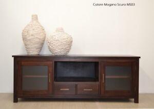 Arredamento Etnico Chic : Porta tv etnico vintage chic coloniale legno massello mobili