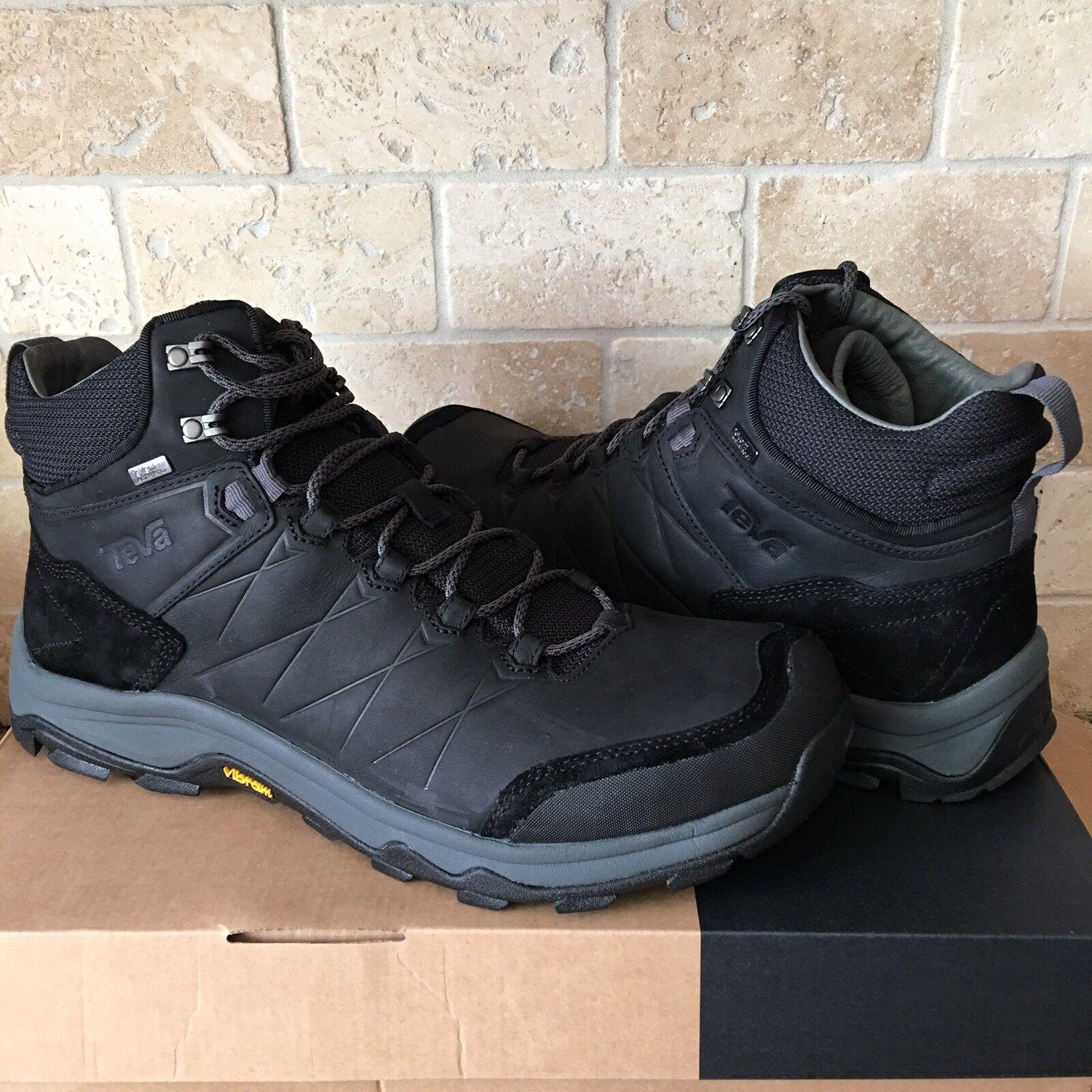 TEVA ARROWOOD RIVA Medio Negro WP para senderismo y Cuero botas Zapatos para hombres