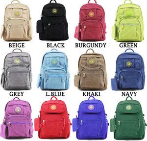 9761cd7e1b8e Image is loading UK-Ladies-Mini-Fabric-Backpack-Rucksack-Girls-School-