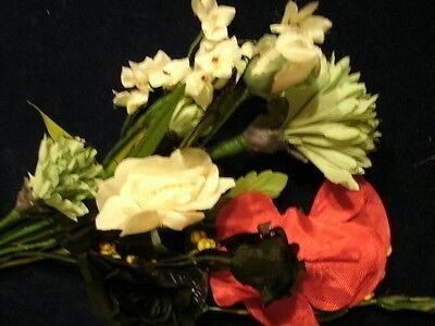 Intellective Vintage Modisteria Flower Collection Rosso Nero Bianco Per Cappello Capelli Di Rinvigorire Efficacemente La Salute