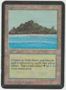 Magic-Style-MTG-Tropical-Island-ALPHA-Good-Played