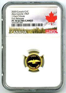 2020 CANADA G1C .9999 GOLD PROOF NGC PF70 UCAM ALEX COLVILLE 1967 DOVE POP8