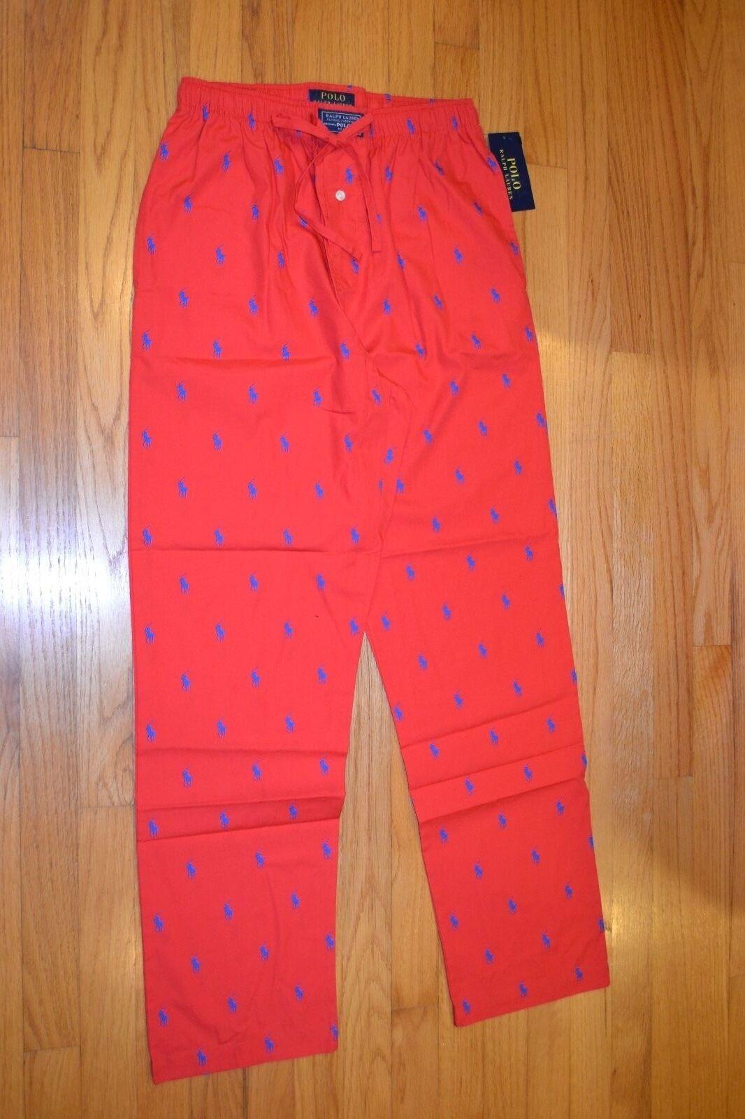 Men's Polo Ralph Lauren Sleepwear Red Pajamas Pants Size  Medium New With Tag