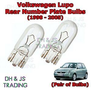 VW Lupo 6X1 6E1 Green 4-LED Xenon Bright Side Light Beam Bulbs Pair Upgrade