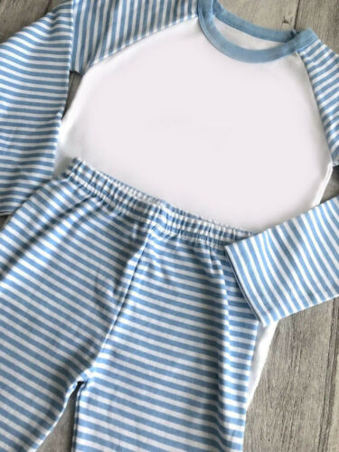 Children/'s Kids Stripe Pyjamas Boys Girls Nightwear Christmas Gift Age 6m-10yrs