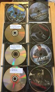 Lot-of-8-DVD-Action-Movie-Genre-No-Cases-In-Jewels-Blockbuster-Hits