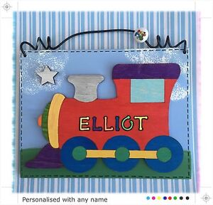 Children-s-Train-Door-Sign-PERSONALISED-Handmade-Name-Plaque-Boys-Childs-Red