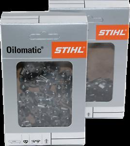 2 Stihl Sägeketten Picco Micro PM 1//4P-1,1-57 TG 25 cm für Stihl MSA 161 T 3670
