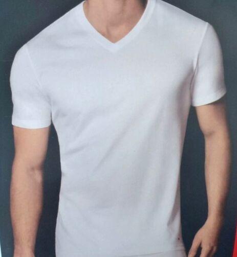 TOMMY HILFIGER Men/'s 1 Classic V-Neck Tee Shirt  *White Black Gray Navy Red New