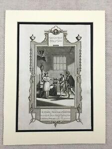 1779 Stampa Duca Di Suffolk Cardinale Wolsey Norfolk Antico Incisione