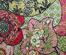 """Cotton Upholstery Fabric House 'N Home Colorful Asian Floral, Paisley 56"""" W BTY"""