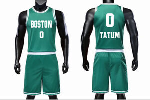 outlet store 32e95 6ca2e Details about KIDS BOY YOUTH JAYSON TATUM #0 BASKETBALL JERSEY W/ SHORT  SET, 4XS-M