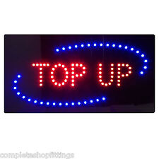 NEW TOP UP SHOP FLASHING LED SIGN  WINDOW SIGN BOARD FOR MOBILE SHOP