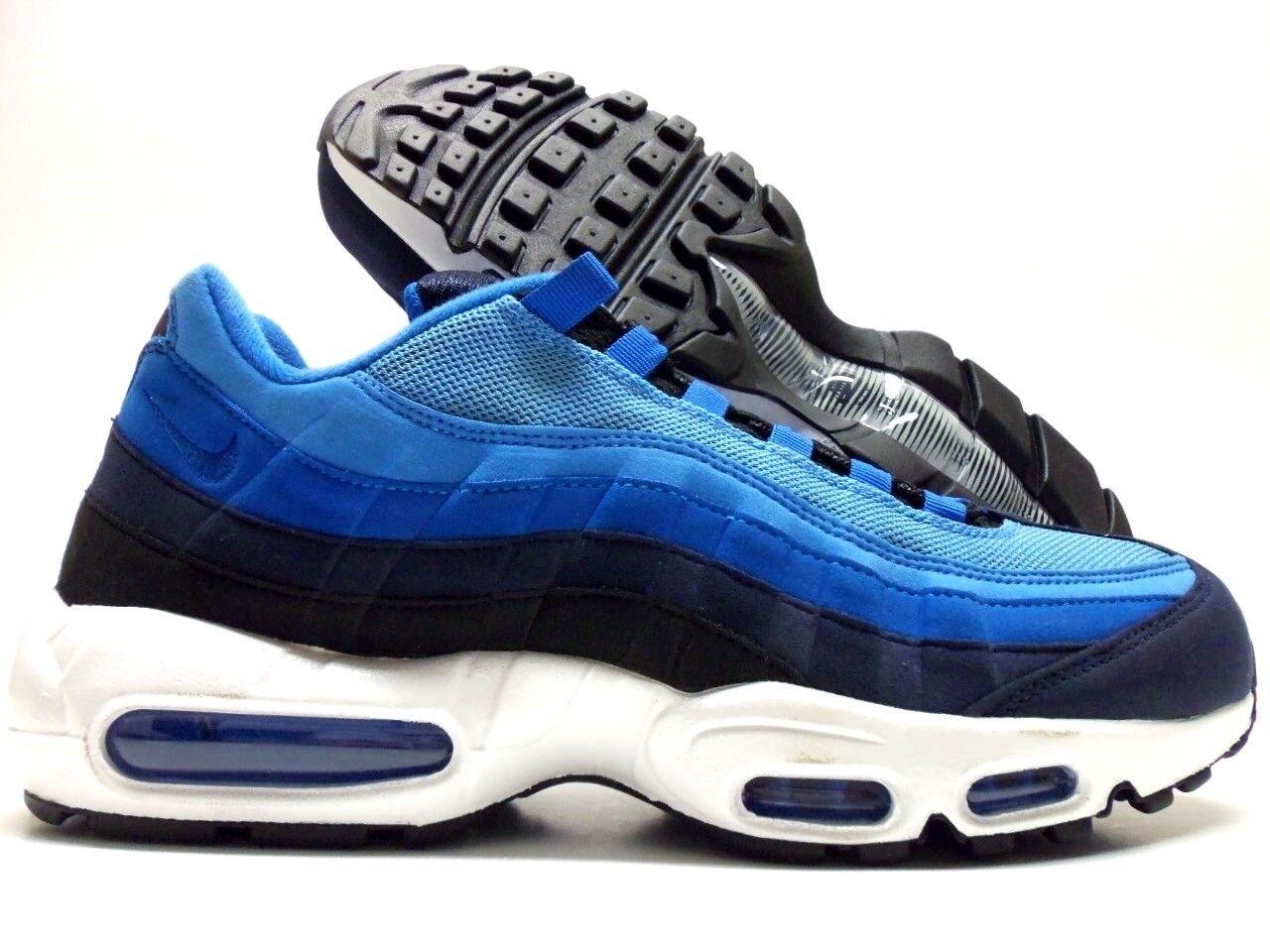 Nike air max 95 - universität blau blau blau / schwarz-Weiß größe 10,5 (männer 818592-996] 6150d2