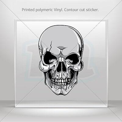 Decals Sticker Gray Black Skull Helmet Motorbike Bike Garage st5 KR897