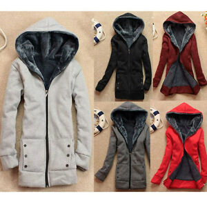 Womens-Hooded-Jacket-Coat-Warm-Sweater-Outerwear-Hoodies-Sweatshirts-Size-8-22