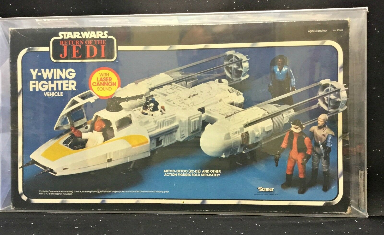 1983 Kenner Star Wars Return of the Jedi Y-Wing Fighter AFA QY-80