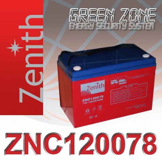 Batteria AGM zenith 100Ah 12V eolico solare camper consegna in 24 ore express