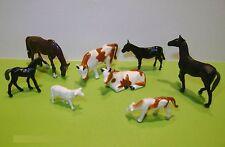 8 Tiere für den Bauernhof! Für Spur HO. Versand Frei! Typ BR -  E071